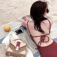 Мягкий сексуальный женский купальник, сдельный купальник с открытой спиной, купальный костюм, пляжная одежда, танкини