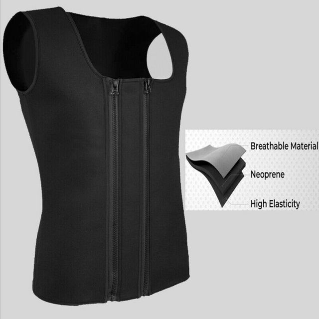 Men's Hot Sweat Body Shaper Slimming Belt Belly Men Slimming Vest Fat Burning Shaperwear Waist Sweat Corset Tummy Fat Jumper Top 3