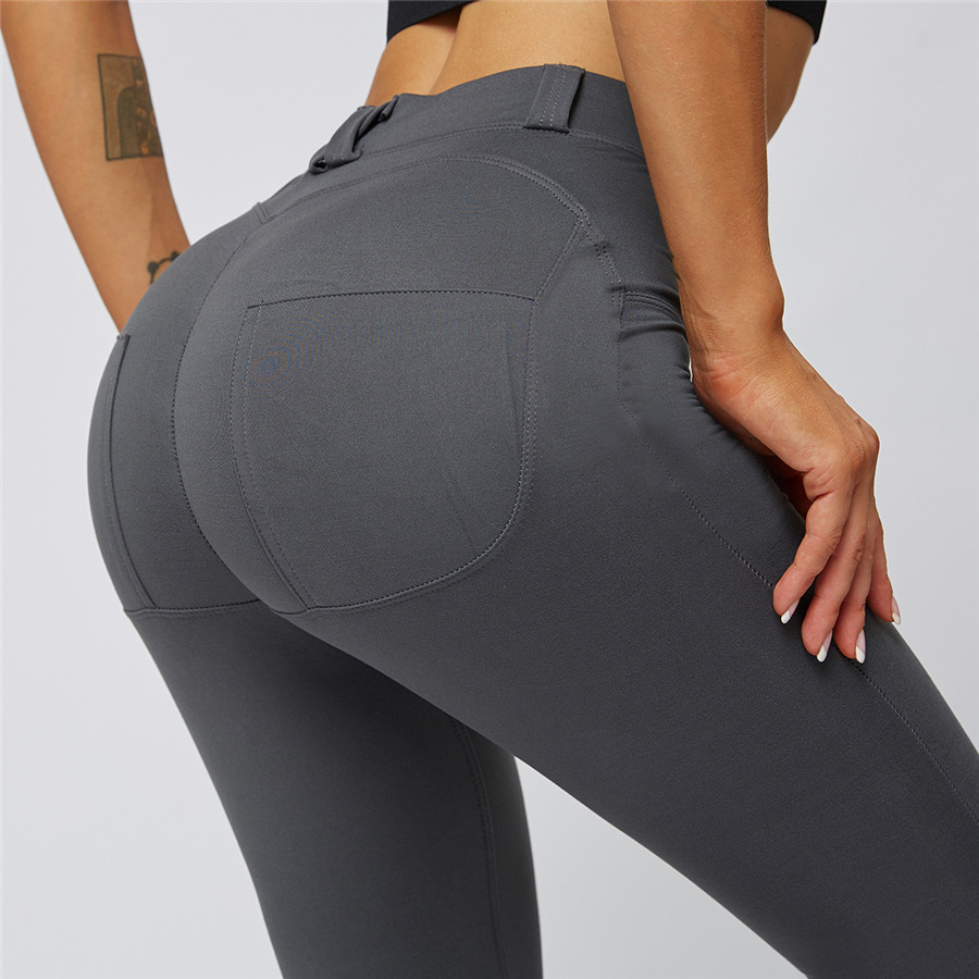 Solid Sport Seamless Leggings Yoga Pants Women Fitness High Waist Sports Pencil Pants Running Tights Sexy Gym Leggings Trousers image