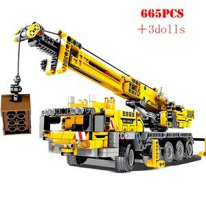 Image 1 - 市エンジニアリング機械車のビルディングブロックテクニック啓発 diy 建設レンガのおもちゃ子供のクリスマスプレゼント