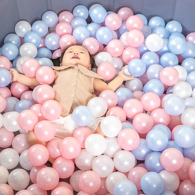 50/100 Pcs palla colorata ecologica Pit in plastica morbida Ocean Ball Water Pool Ocean Wave Ball giocattoli da esterno per bambini bambini Baby