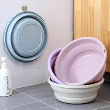 Bacia dobrável portátil de viagem lavanderia bason potes de plástico bacia de escamação bacia casa dobrável bacia