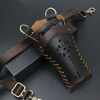 Профессиональные кожаные ножницы для волос, зажимы для сумки, расческа, Парикмахерская, ножницы, кобура, чехол для держателя, поясная сумка, ...