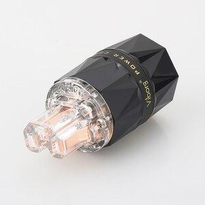 Image 5 - Viborg VE503 + VF503 Transparent 99.99% pur cuivre EUR Schuko Hifi audio cordon dalimentation câble fiche dalimentation IEC femelle connecteur