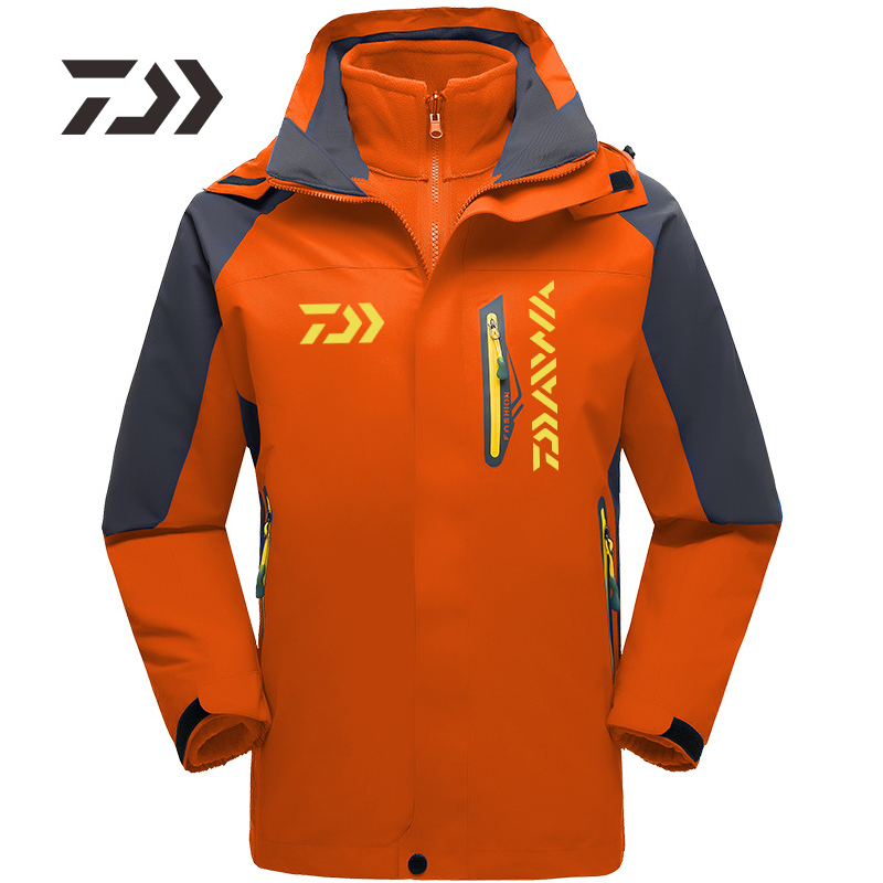 Fishing Clothing Jacket Winter Autumn Fishing Clothes Outdoor Camping Climbing Windproof Waterproof Warm Fishing Hooded