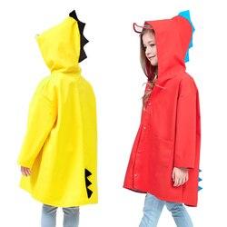 Bonito dinossauro poliéster bebê crianças impermeável casaco de chuva ao ar livre crianças poncho impermeável meninas meninos jaqueta de chuva