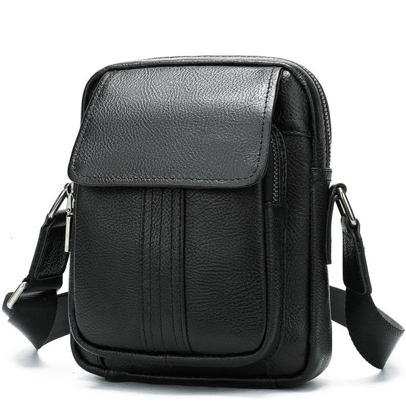 Messenger Bag Mens Shoulder bags Leather Small flap male man Crossbody bag for Messenger men Leather bags