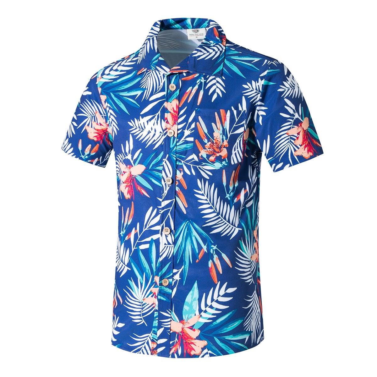 Camisas dos Homens Praia Havaiana Casuais Streetwear Novo Verão Hawaii Férias Camisas Masculinas Manga Curta Chemise 2020