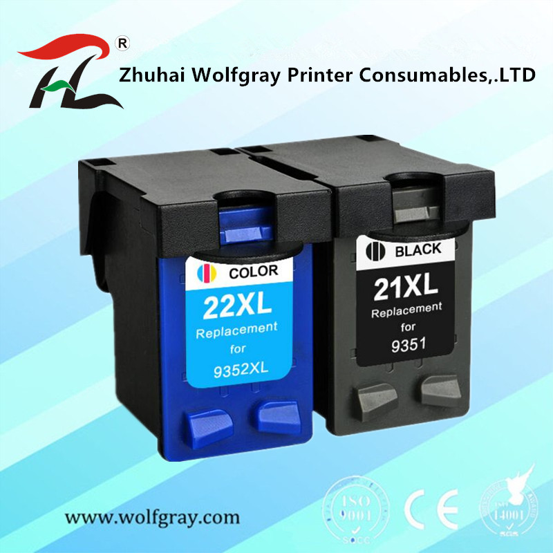 YI LE CAI Compatible ink <font><b>cartridge</b></font> 21xl 22XL for hp21 <font><b>22</b></font> for <font><b>hp</b></font> <font><b>21</b></font> Deskjet 3915 D1530 D1320 F2100 F2280 F4100 F370 C9351AA image