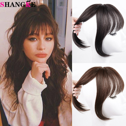 SHANGKE Synthetic Hair Clips Bangs Hairpiece Clip In Hair Extensions Hair Accessories Heat Resistant Fake Hair For Women