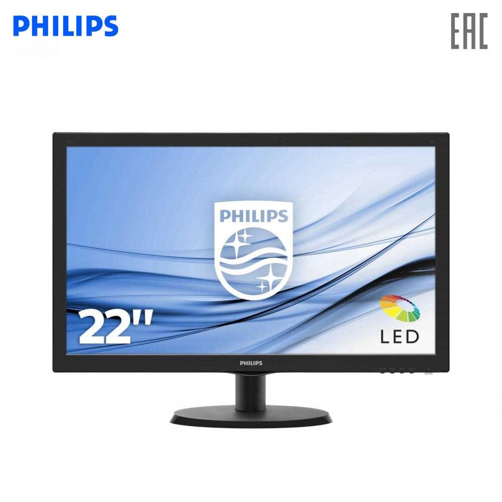 Монитор Philips 223V5LSB2 (1062) LCD 21.5'' [16:9] 1920х1080(FHD) TN, nonGLARE, 200cd/m2, H90°/V65°, 10М:1, 16.7M Color, 5ms