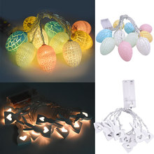 1.6meter Rabbit Egg Led String Light Powered By Battery Wire Lights Kids Birthday Wedding Happy East