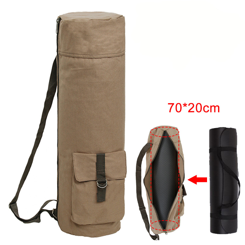 Холщовая сумка-чехол для Йоги (kendome/70х20 см) цвета хаки