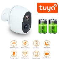 QZT Wireless WIFI telecamera di sorveglianza impermeabile Tuya Smart IP Camera WIFI batteria esterna visione notturna sicurezza telecamera CCTV 2MP