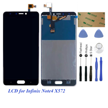 Display Digitizer For Infinix Note 4 X572 / Note4 X572 LCD Display Touch Screen Glass Panel Assembly 13 3 full lcd display panel touch screen glass digitizer assembly lp133wf3 spa1 for toshiba satellite l35w b3204 p35w b3220 fhd