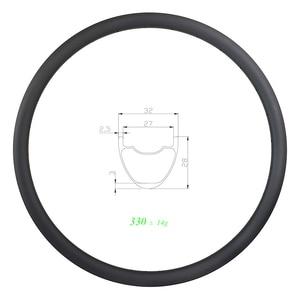 Image 1 - 330g 29er MTB XC SL 32mm clincher tubeless carbon rim 28mm deep UD 3K 12K matte glossy 24H 28H 32H ULTRA LIGHT 27mm inner wide