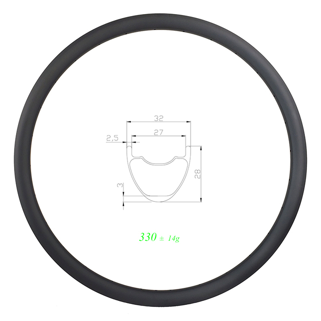 330g 29er MTB XC SL 32mm clincher tubeless carbon rim 28mm deep UD 3K 12K matte glossy 24H 28H 32H ULTRA LIGHT 27mm inner wide