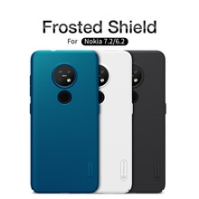 NILLKIN Armor Case for Nokia 7.2 6.2 Phone Cover Frosted Shield Smartphone Coque Capa Para Black Matte Hard Telephone Bag