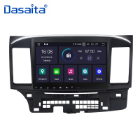 Dasaita Car Accessories Android 9.0 Car 1 din Radio Player GPS Navi with 10.2 Multimedia HD Touch Screen for Mitsubishi Lancer