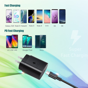 Image 2 - 25W Super Fast Charger  Quick Charge 3.0 Type C PD Chargers for Samsung Gaiaxy S20 N10 20 9 8 S10 9 8 Wall Charger EU Adapter
