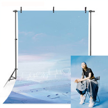 Blue Sky Photography Backdrop Cloud Music Note Staves Background Adult Children Portrait Banner Backdrops for Photo Studio