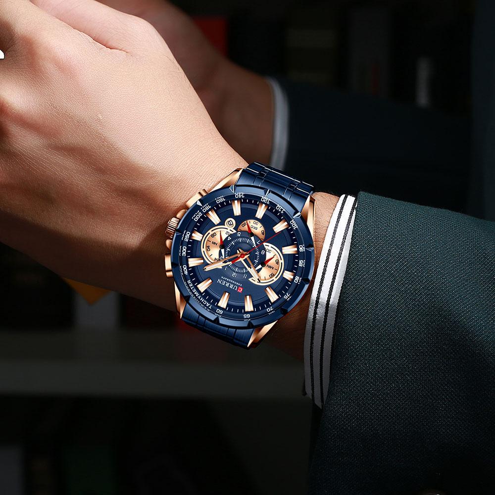 H92593b86d2a54058825bed7133826875Z CURREN New Causal Sport Chronograph Men's Watch