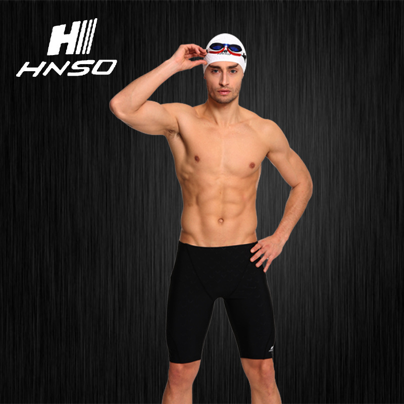 Swimming Trunks Men Boxer Swimming Trunks Men's Quick-Dry Printed Hot Springs Loose-Fit Swimming Suit Equipment