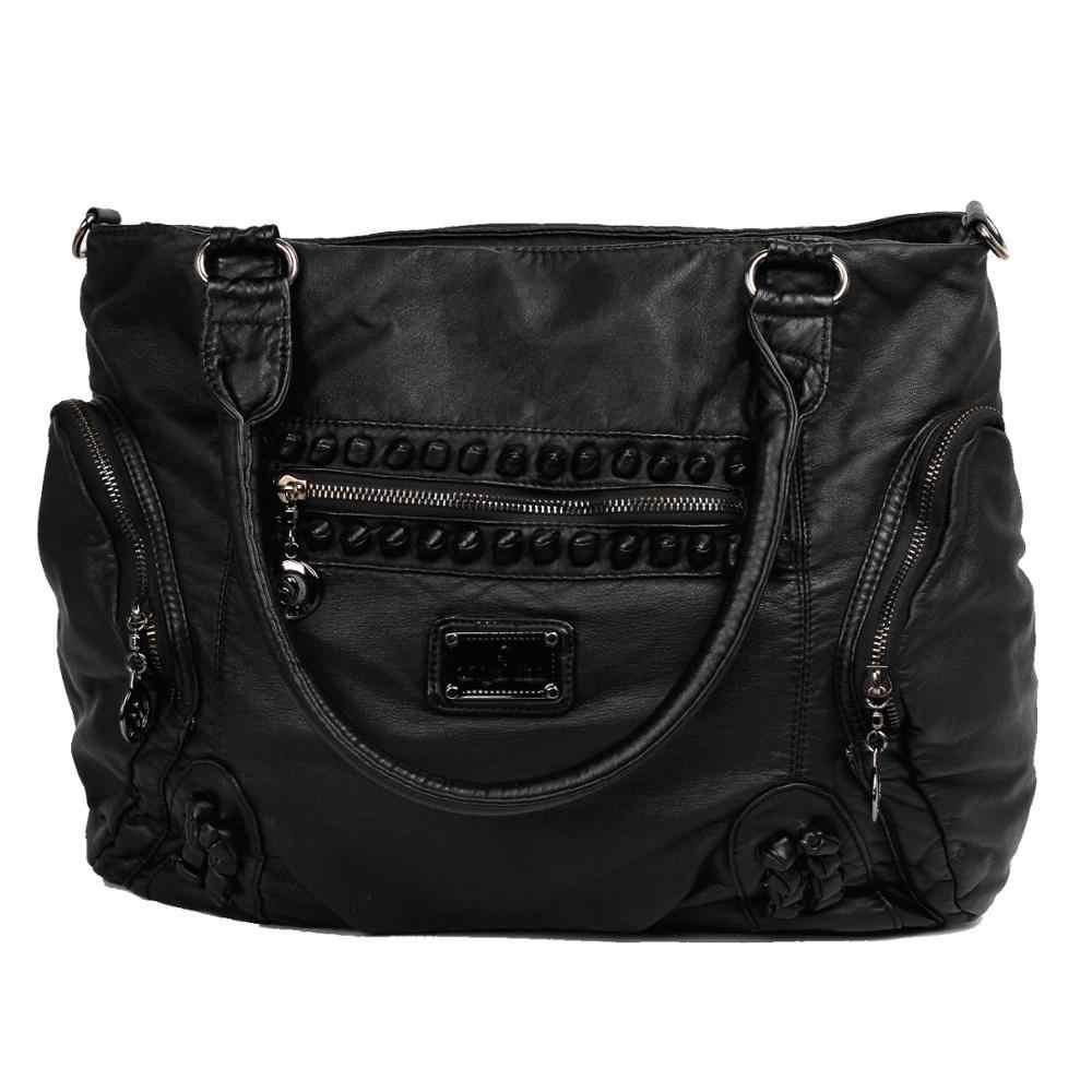 FB18233 gösterisi hikayesi kadın kızlar siyah Stiletto yüksek topuk moda tasarım çanta omuzdan askili çanta
