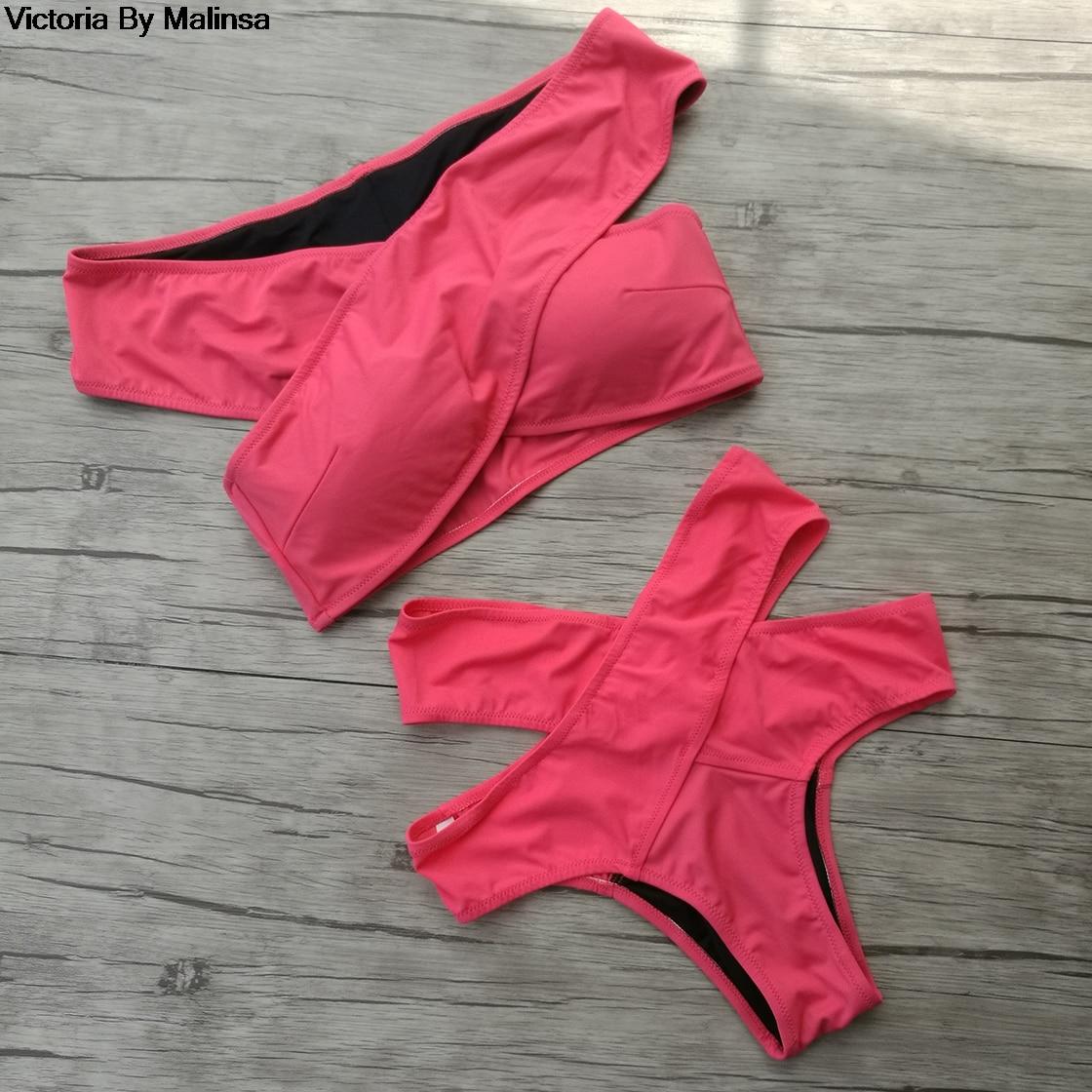 Women's Sexy Bikini sets Black Red Bikinis Top Women Bikini Bottoms Swimwear Green Secret Brazilian High Waist Bottom 2