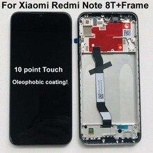 ЖК дисплей и сенсорный датчик в сборе с рамкой для Xiaomi Redmi Note 8T, 10 точек касания, 6,3 дюйма