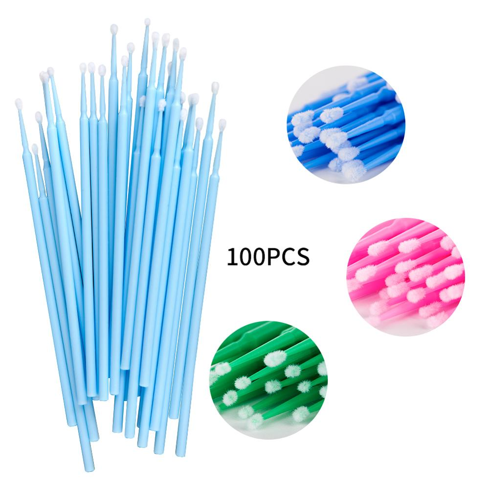 Microbrush 100PCS/Lot Disposable eyelash microbrushes  Extension Tools Individual Eyelashes Removing Tools Arison Lashes