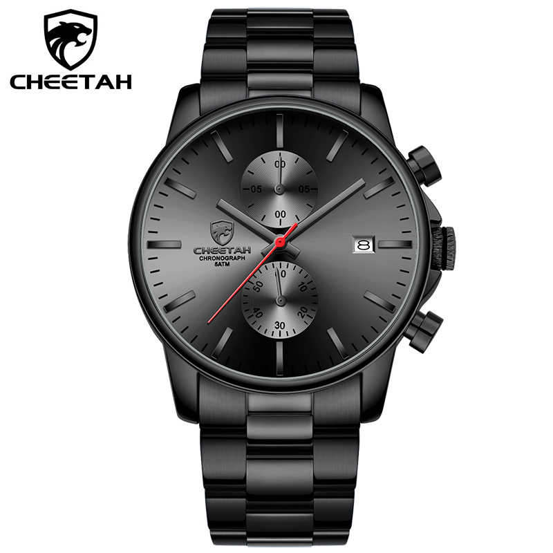 Часы CHEETAH мужские, спортивные, кварцевые, из нержавеющей стали