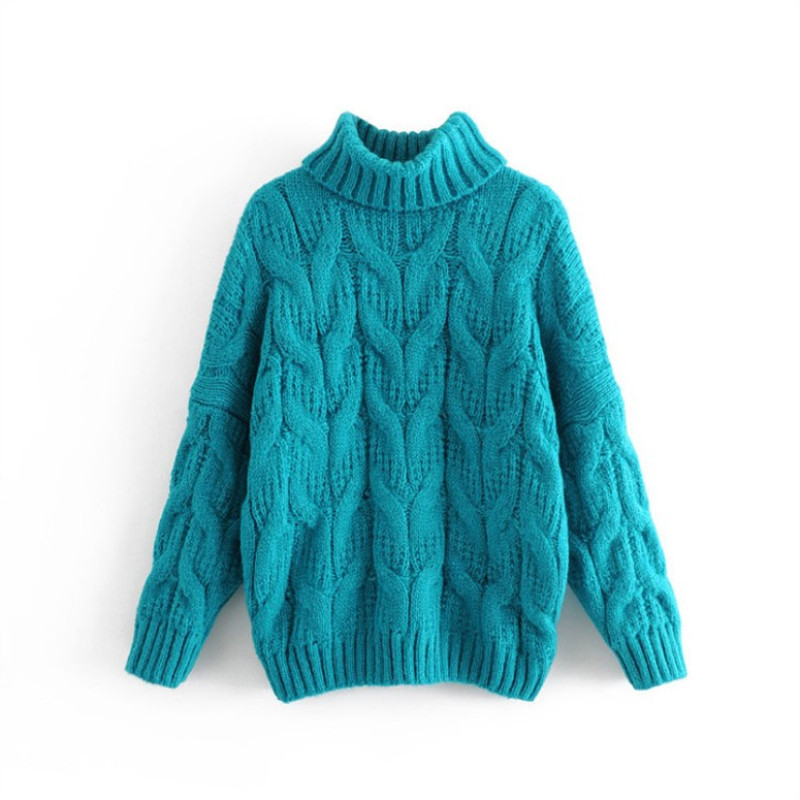 New Ladies Turtle High Neck Top Knit Womens Jumper Poncho Cable Chunky Shawl