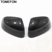 TOMEFON For BMW X3 G01 2018 2019 X4 G02 X5 G05 X7 G07 Side Door Wing Rear View Mirror Cap Cover Trim Exterior Accessories ABS
