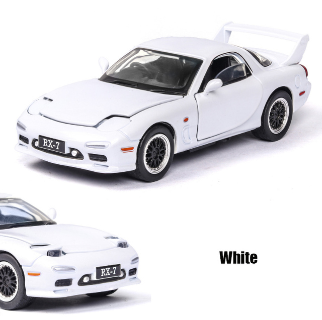 1:32 MAZDA RX7 Racing car Diecasts & Toy Vehicles Metal Car Model Sound Light Collection Car Toys For Children Christmas Gift