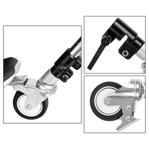 Image 3 - 3Pcs C Stand Swivel Caster Wheel Set,25MM Diameter For Photography Century Foldable Light Stand Tripod Magic Leg