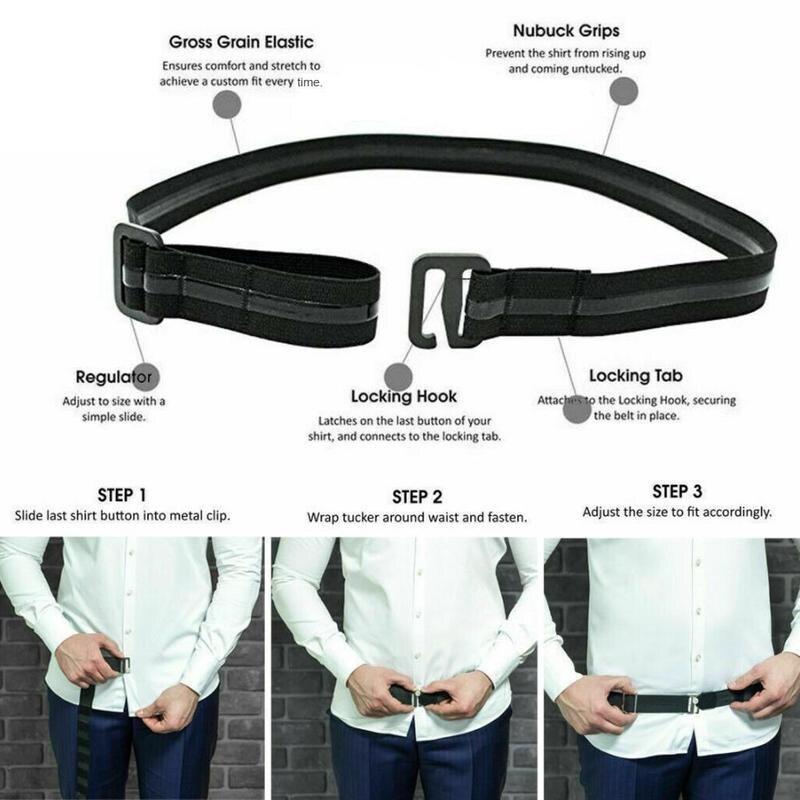 Shirt Non-slip Wrinkle-proof Strap Adjustable Shirt Folds Hidden   Belt   Shirt keep-up   Belt   Support   Belt   Work Interview Unisex