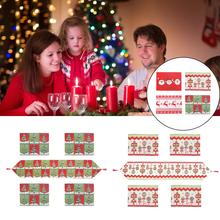 5PSC Christmas Tablecloth Creative Series Table Flag Placemat Home Soft Decoration Restaurant Cover