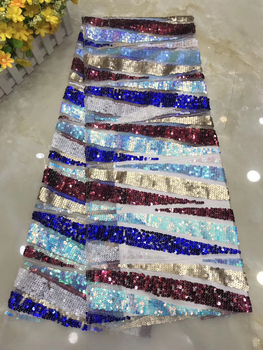 African lace fabric 2020 high quality lace French sequin lace fabric bride lace fabric for Nigerian wedding dress D36251