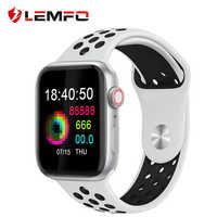 LEMFO inteligentny zegarek mężczyźni kobiety w pełni dotykowy ekran krokomierz z pomiarem tętna wiadomość przypomnienie połączeń telefon zegarek dla Apple telefon z systemem android