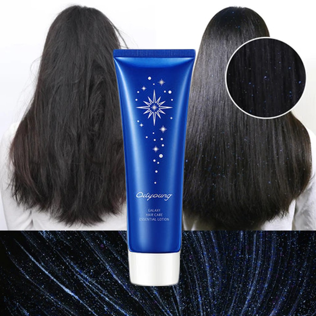 Leave-On Galaxy Hair Mask Galaxy Hair Care Essential Moisturizing Lotion Essence Hair Treatment Mask 5 Seconds Repairs Damage