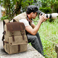 CamDress kamera tasche Wasserdichte Batik Leinwand Kamera rucksack National geographic Dslr tasche kamera outdoor Foto tasche фоторюкзак