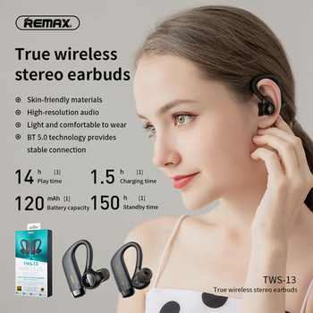 remax bluetooth 5.0 Rear hanging type true Wireless stereo Bluetooth headset sports style Strong compatibility