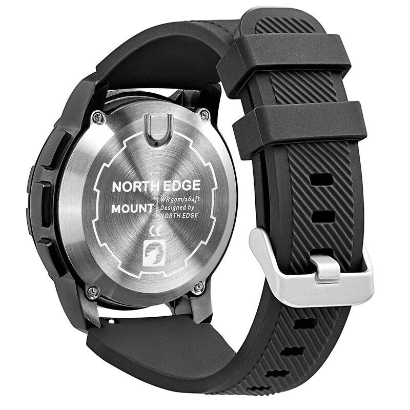 Цифровые часы, водонепроницаемые, мужские часы NORTH EDGE, спортивные, военные, светодиодный браслет, цифровые часы, relogio masculino, часы с Bluetooth - 4