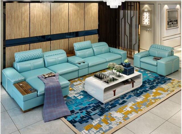 Luxury  L Shape Sofa w/ Corner Storage 6