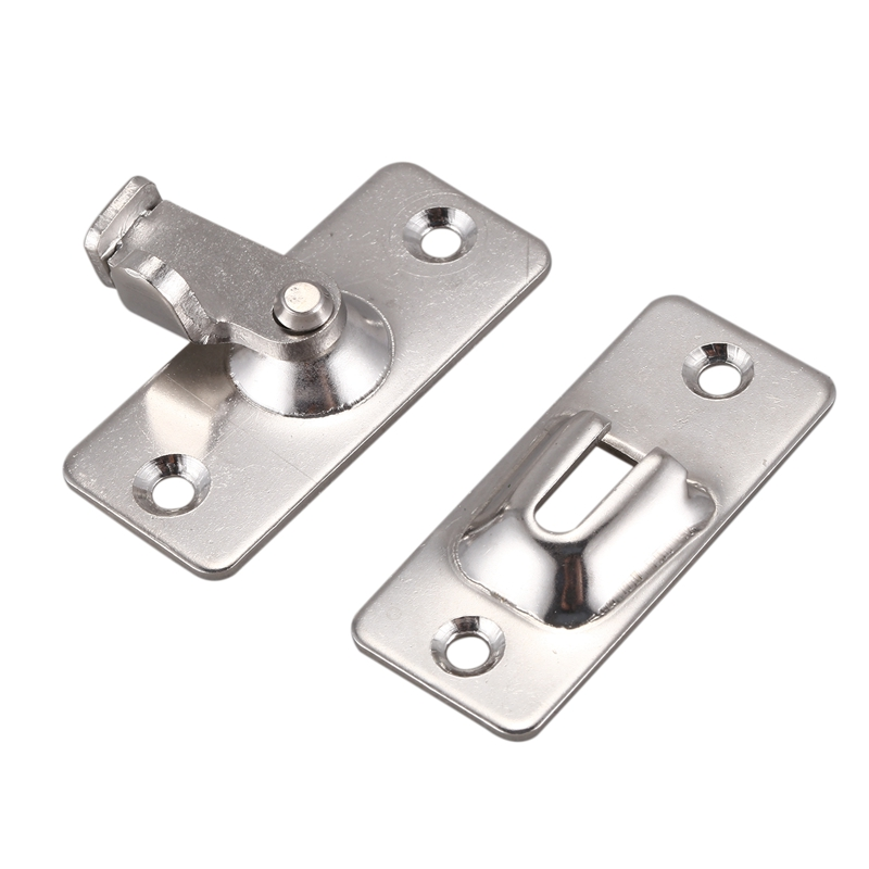 2PCS 90° Safety Door Buckle Right Angle Lock Buckle Bathroom Barn Door Buckle Bending Right Angle Door Bolt Door Latch