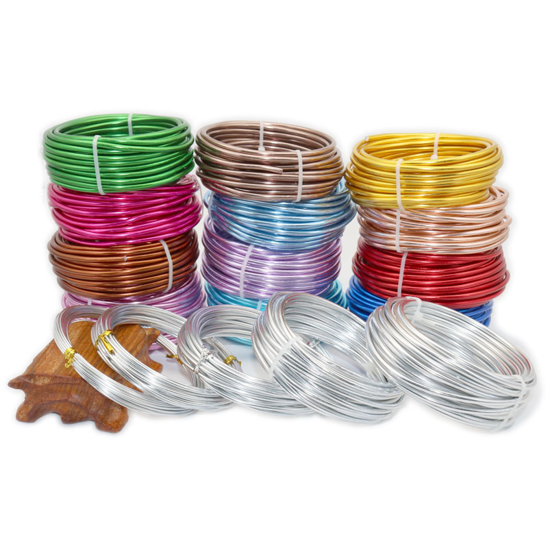 Diy Color Aluminum Wire 3/2.5/2.0/1.5/1mm Aluminum Wire Jewelry Process Material Wire Soft Aluminum Wire Aluminum Wire 10-5m