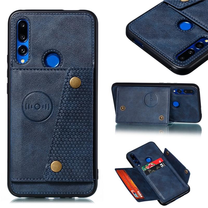 Роскошный силиконовый чехол бумажник из искусственной кожи для huawei P20 P30 Lite Y9 Prime 2019 Honor 20 9X Pro P Smart Z держатель для карт с подставкой|Специальные чехлы|   | АлиЭкспресс
