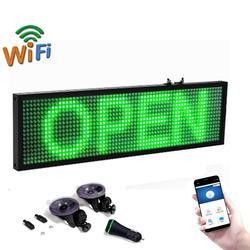 12v Car bus truck P5 tablero de visualización de mensajes LED verde teléfono móvil Wifi programable desplazamiento publicidad en movimiento señales LED verdes
