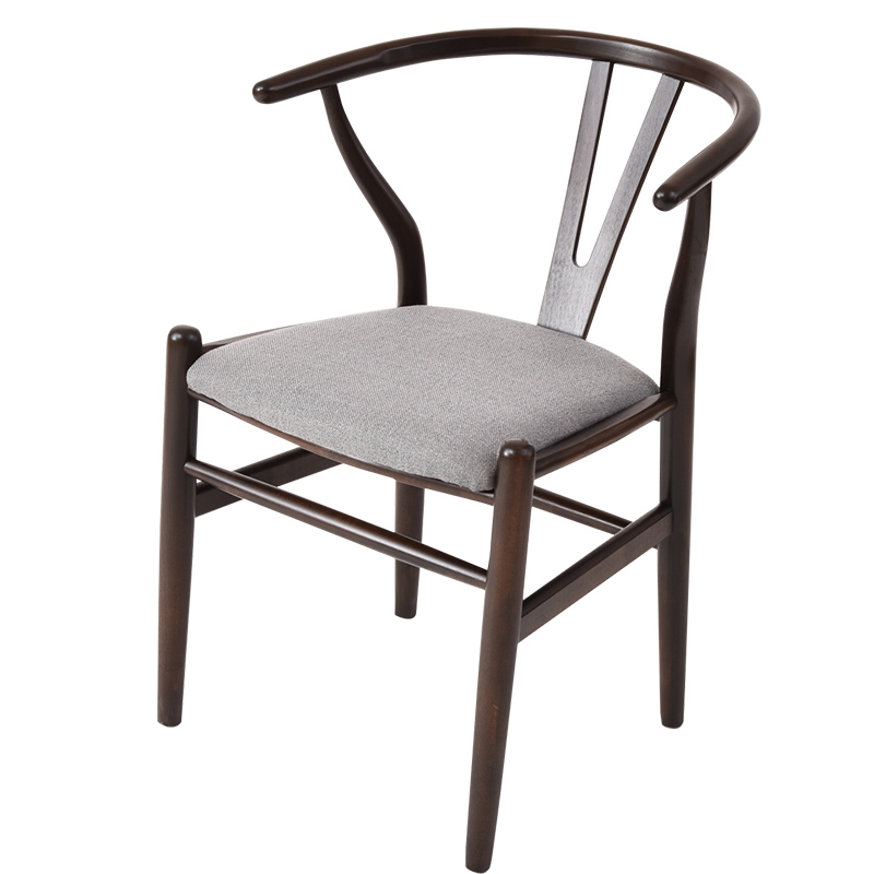 Solid Wood Dining Chair Creative Study Solid Wood Stool Backrest Lounge Chair Y Chair <font><b>Cafe</b></font> <font><b>Table</b></font> And Chairs Home Chair image